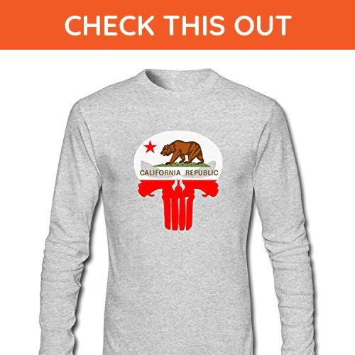 Men/'s California Republic Long-Sleeve T-Shirt