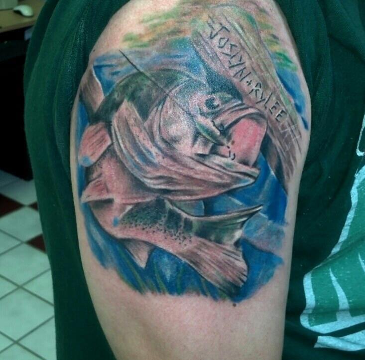 Maori Largemouth Bass Tattoo: Largemouth Bass Tattoo Done By Matt Riddle At Who's Your