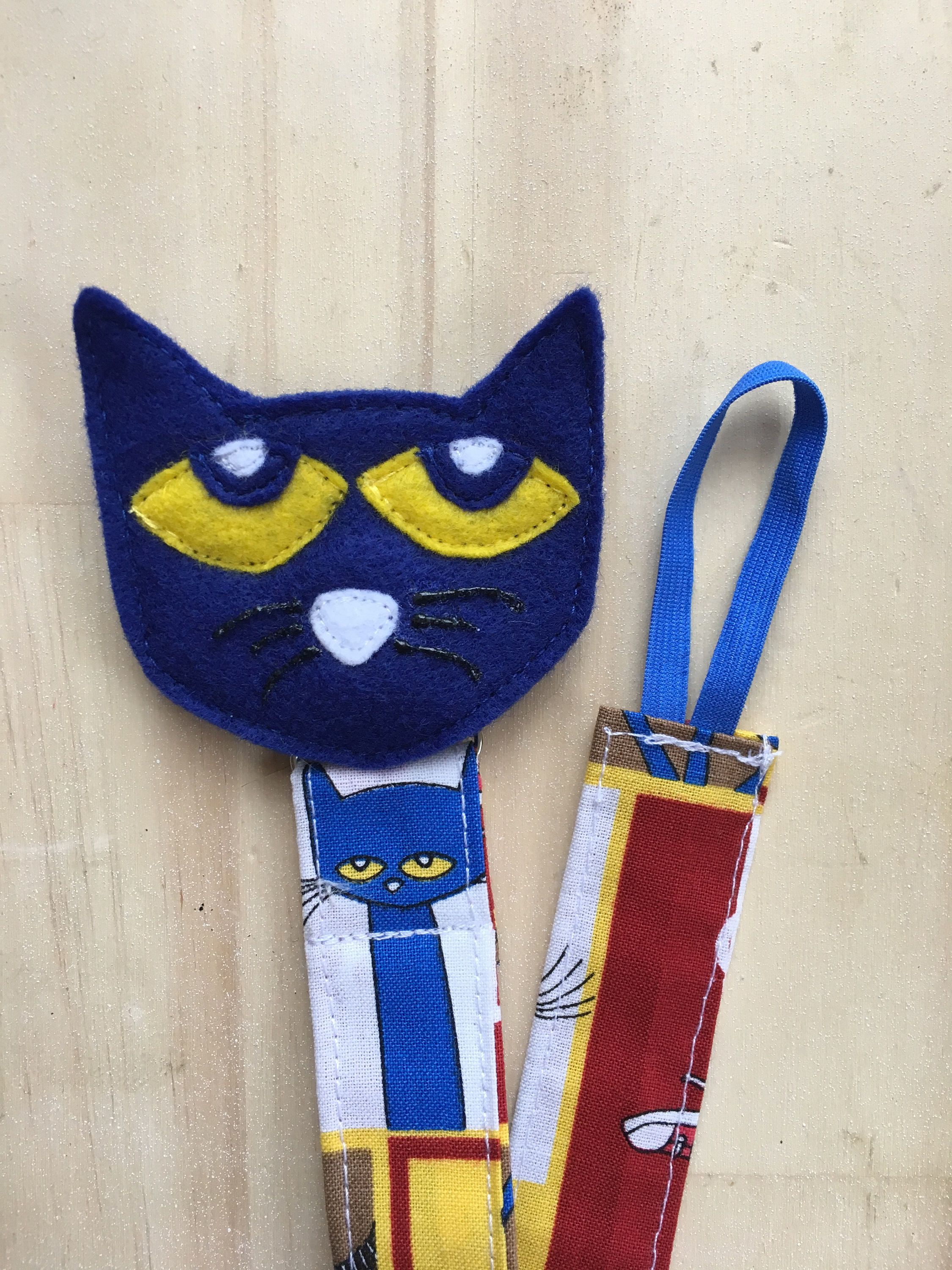 Pacifier Clip Pete the Cat Chewy Tube Holder Binky Clip Binky