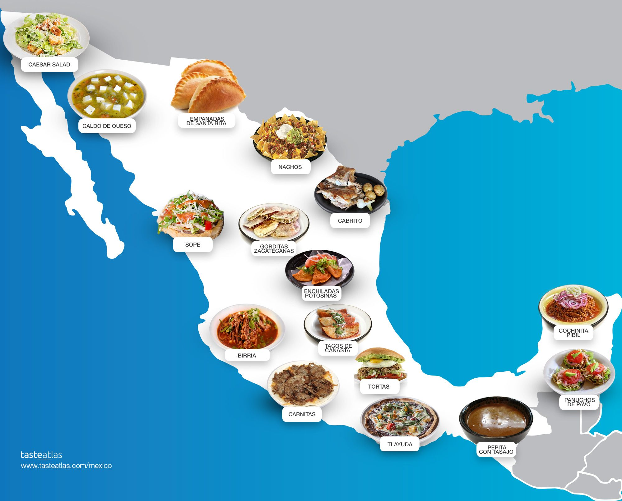 Food Map Of Mexico 218 Traditional Dishes And Food