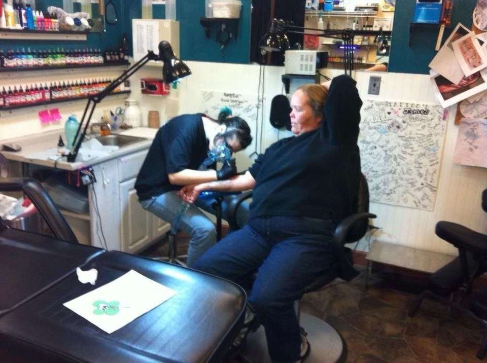 Me tattooing