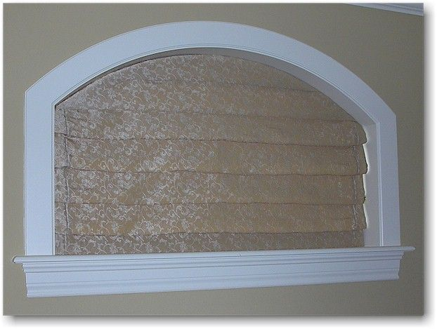 Here Is An Operating Roman Shade On Arch Top Window The Raises