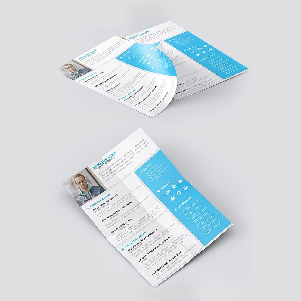 cool material style professional resume template free psd