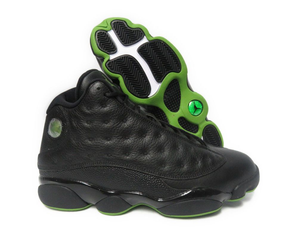 d9fd34e6b45  414571-042  AIR JORDAN RETRO 13 ALTITUDE BLACK GREEN MEN SNEAKER SIZE 11