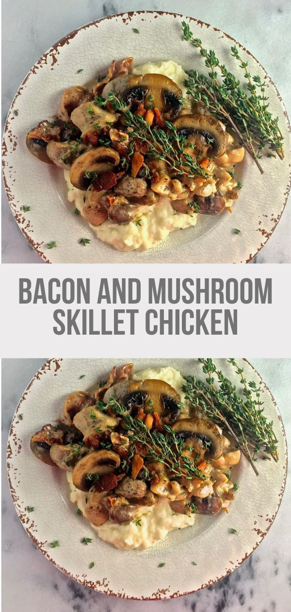 Bacon and Mushroom Skillet Chicken images