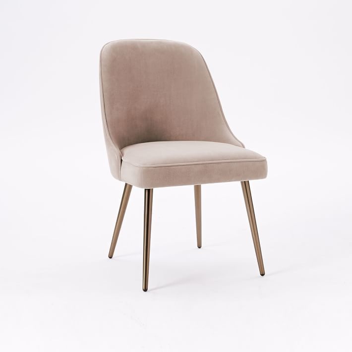West Elm Mid Century Upholstered Dining Chair Mebel Dining