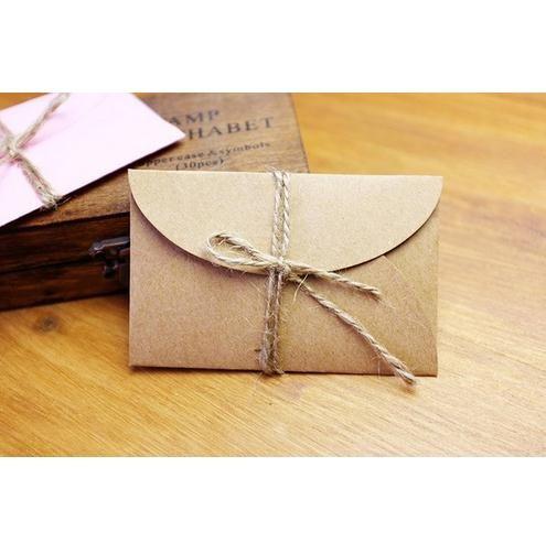 Handmade Mini Kraft Paper Envelope 5 8x9cm 200pcs Lot For