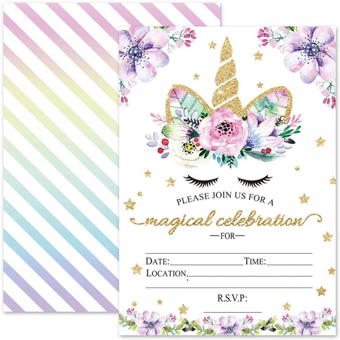 15 creative unicorn birthday card invitation di 2020