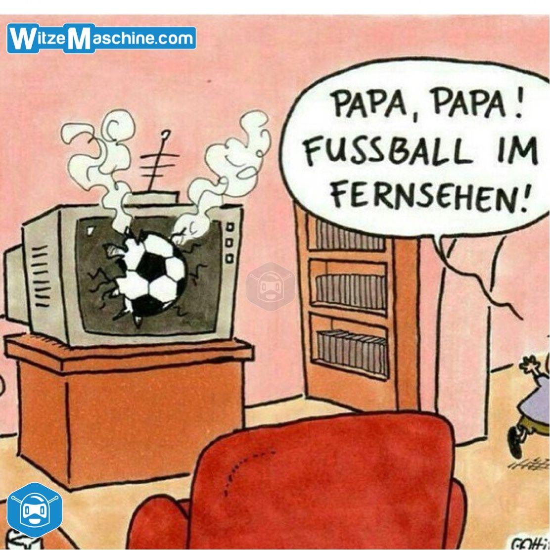 Fussball Im Fernseher Wortlich Sport Witze Lustig Das