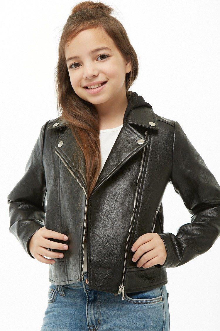 Girls Faux Leather Combo Bomber Jacket Kids Girls Fashion Clothes Kids Bomber Jacket Puffer Jacket Women [ 1125 x 750 Pixel ]