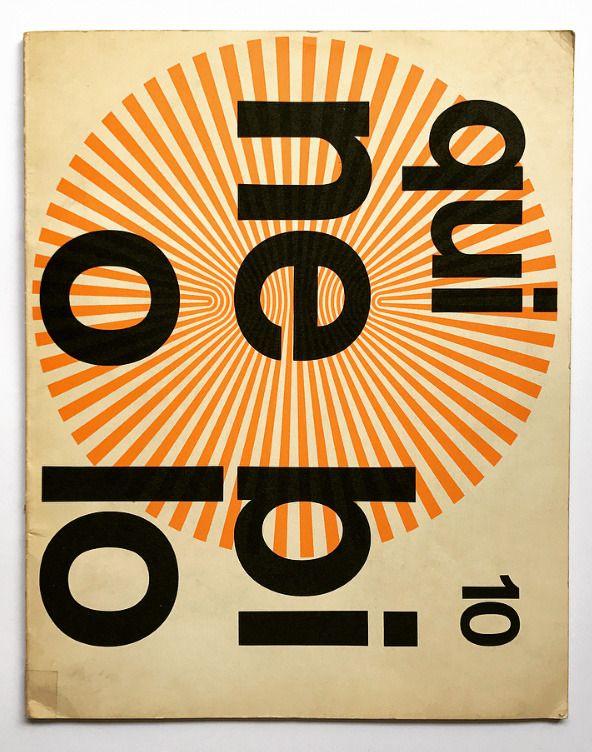 «Forma», typeface special issue, Art direction Pino Tovaglia, Società Nebiolo, Torino, 1969. Cover design: Franco Grignani