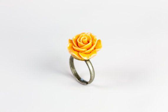 1pc Flower ring two colors differents por ttheBelleshop en Etsy