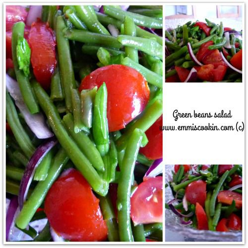 Green beans salad ! A light, easy to make salad, perfect for summer days! Perfect side dish for BBQs or vegetarian patties ;-)