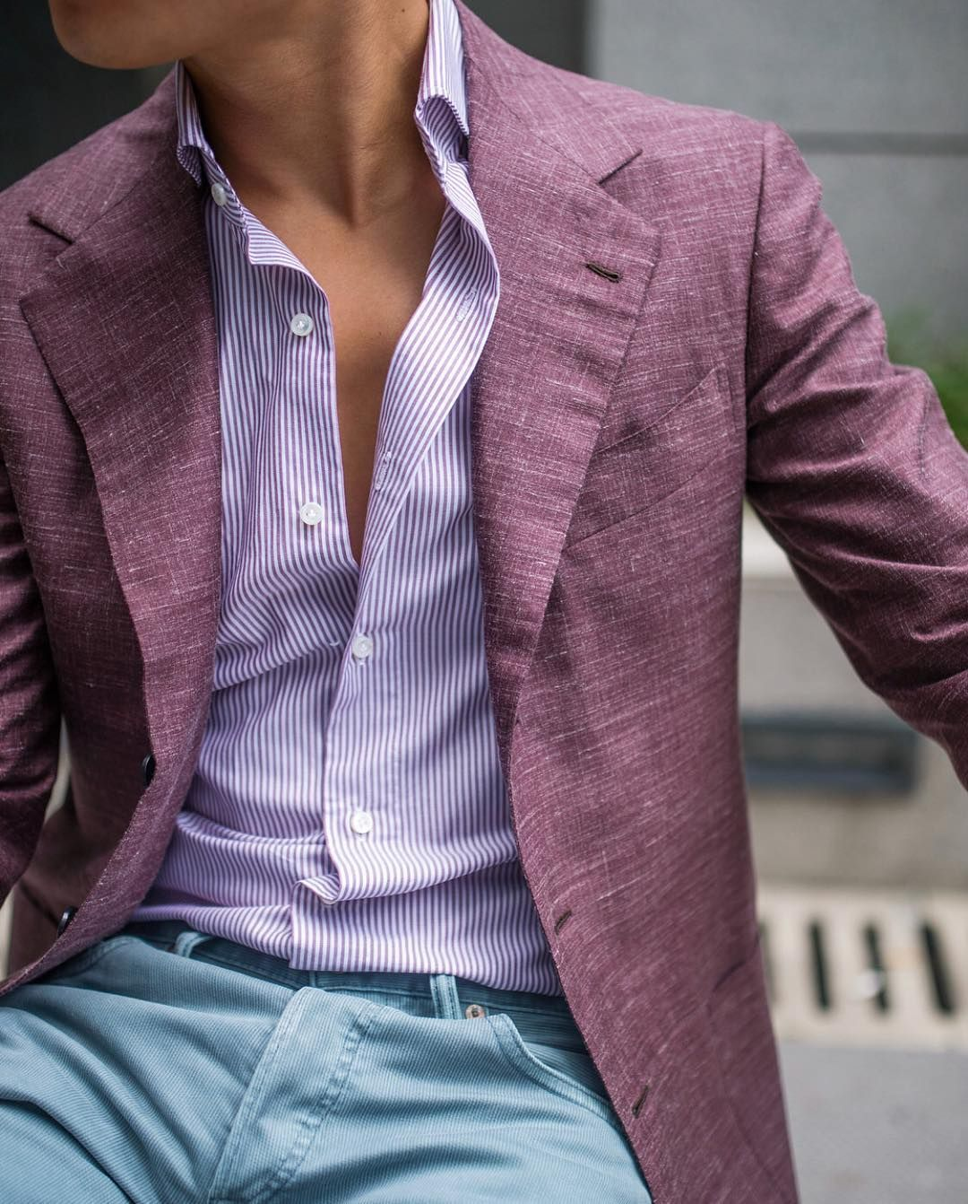 Purple flannel men  Real men wear purple A great summer outfit by kieranwang from