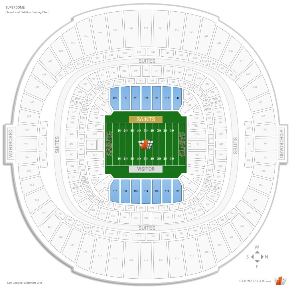 The Most Stylish New Orleans Saints Seating Chart