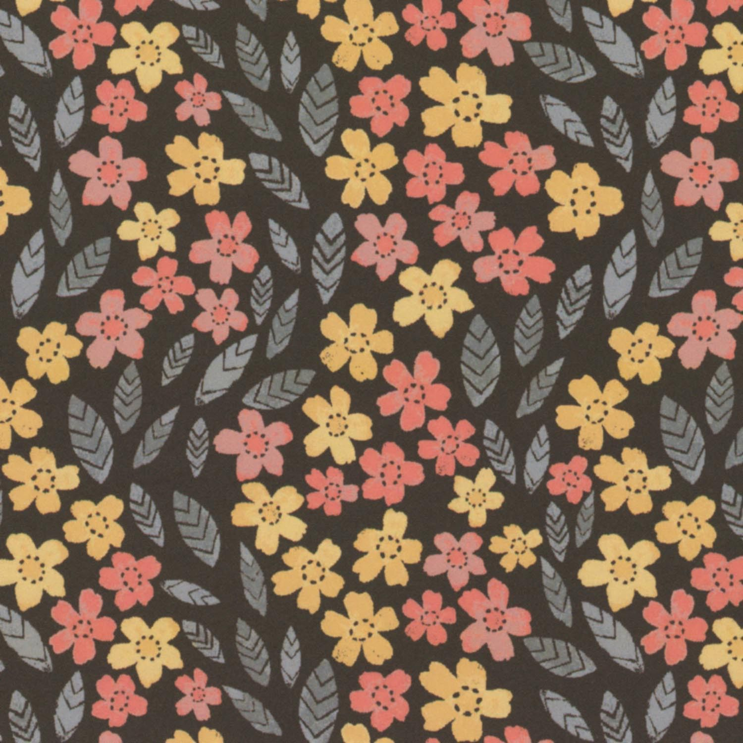 Multi Petal Trail By Ritchie, Rae  - 15yds, 100% Cotton Shirting, 44/45in, 75x75