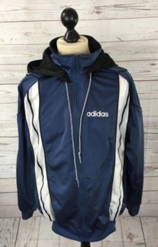 16d04c88eb6f ADIDAS TREFOIL Retro Track Top Jacket - XL - Blue - Great Condition