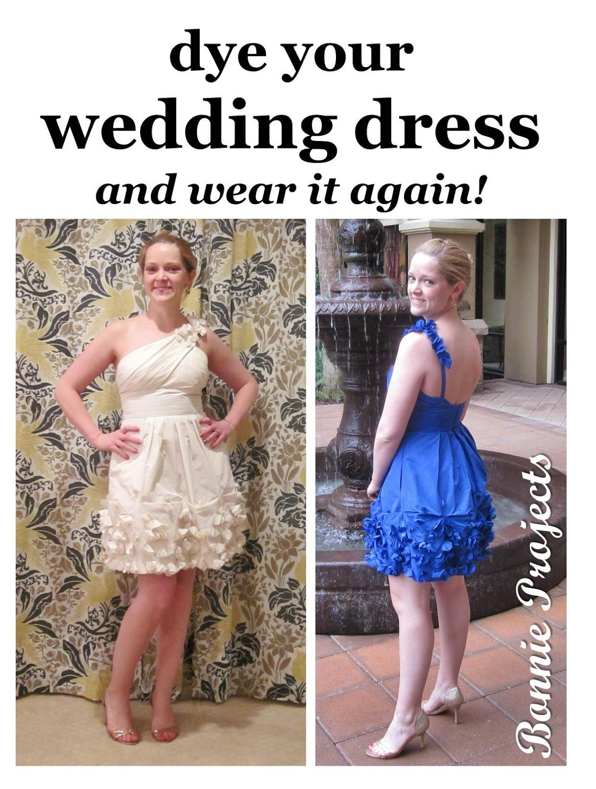 Bonnie projects dye your wedding dress and wear it again bonnie projects dye your wedding dress and wear it again ombrellifo Choice Image