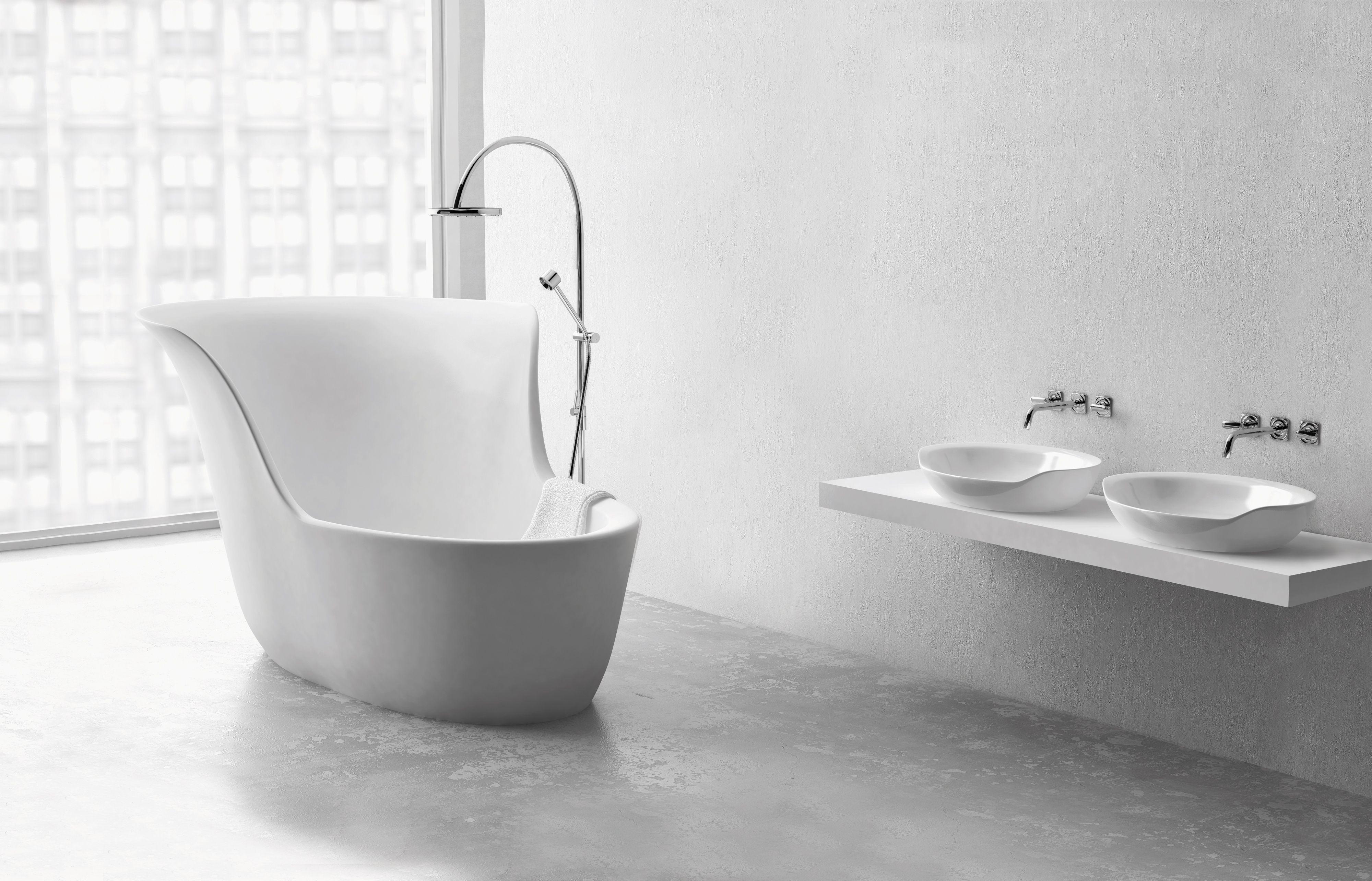 waschbecken waschbeckenschrank badewanne freistehende ...