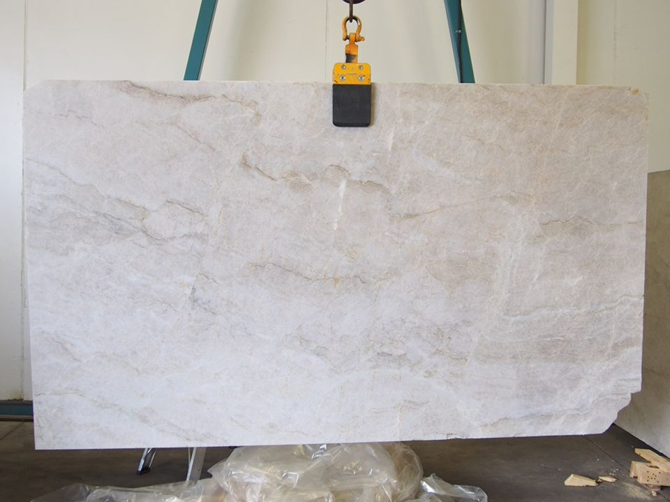 Perla Venata Natural Quartz Slab Sold By Milestone Marble