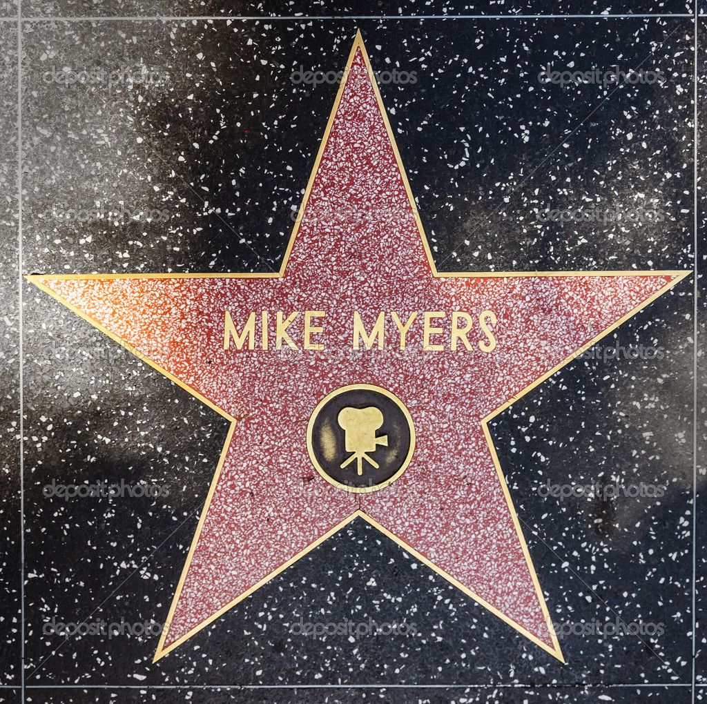 mike myers star on hollywood walk of fame hollywood walk