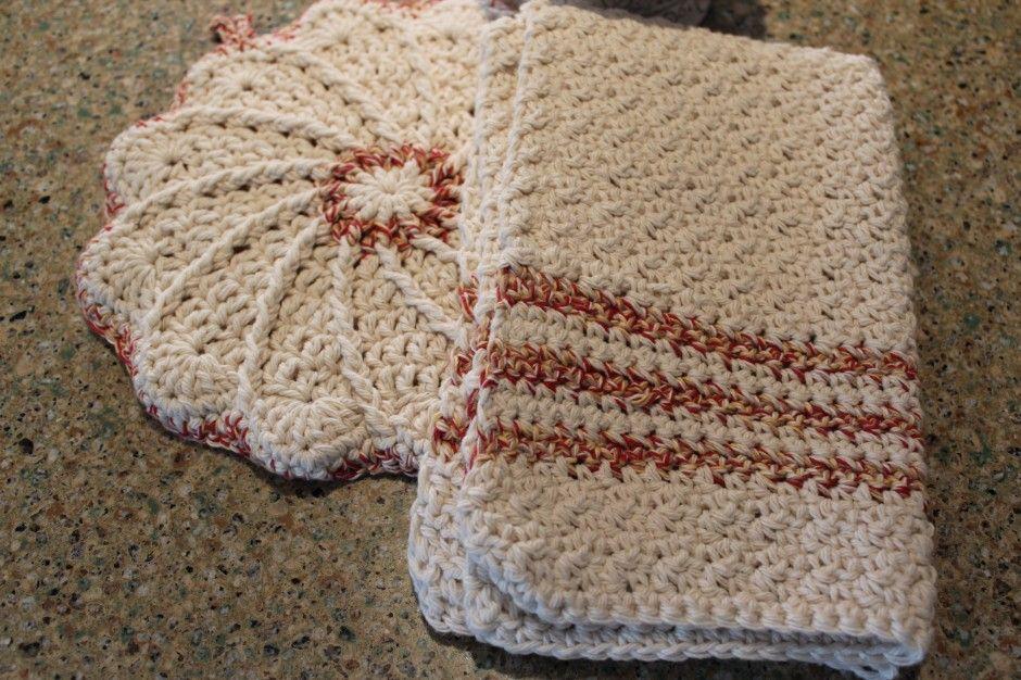 Free Kitchen Crochet Patterns A Scalloped Potholder And Dorthea