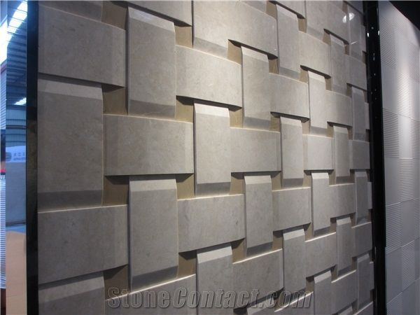 3d Beige Marble Wall Panel Marble Cnc Wall Tile From China Stonecontact Com Wall Paneling Marble Wall Beige Marble