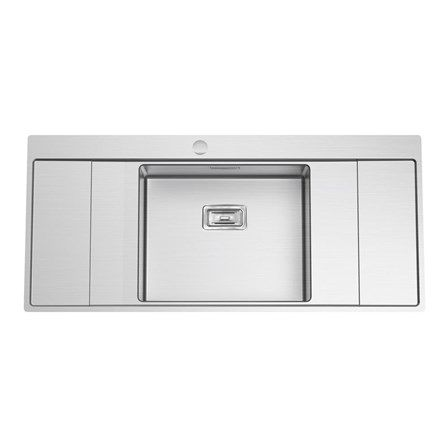 Kitchen Sinks Double Drainer Clearwater xeron b50 single bowl brushed stainless steel sink with clearwater xeron b50 single bowl brushed stainless steel sink with double drainer waste 1160 x 520mm new kitchen workwithnaturefo