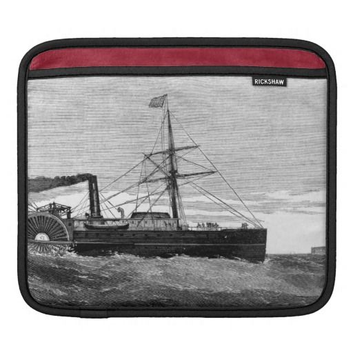 Star of the West & Map [b&w] iPad Sleeve