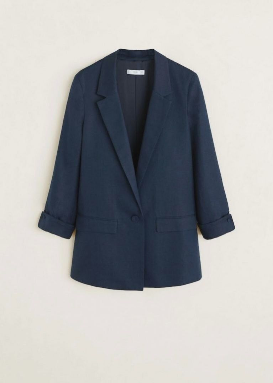 Esprit Collection AUS FEINEM TWILL Veste de costume navy