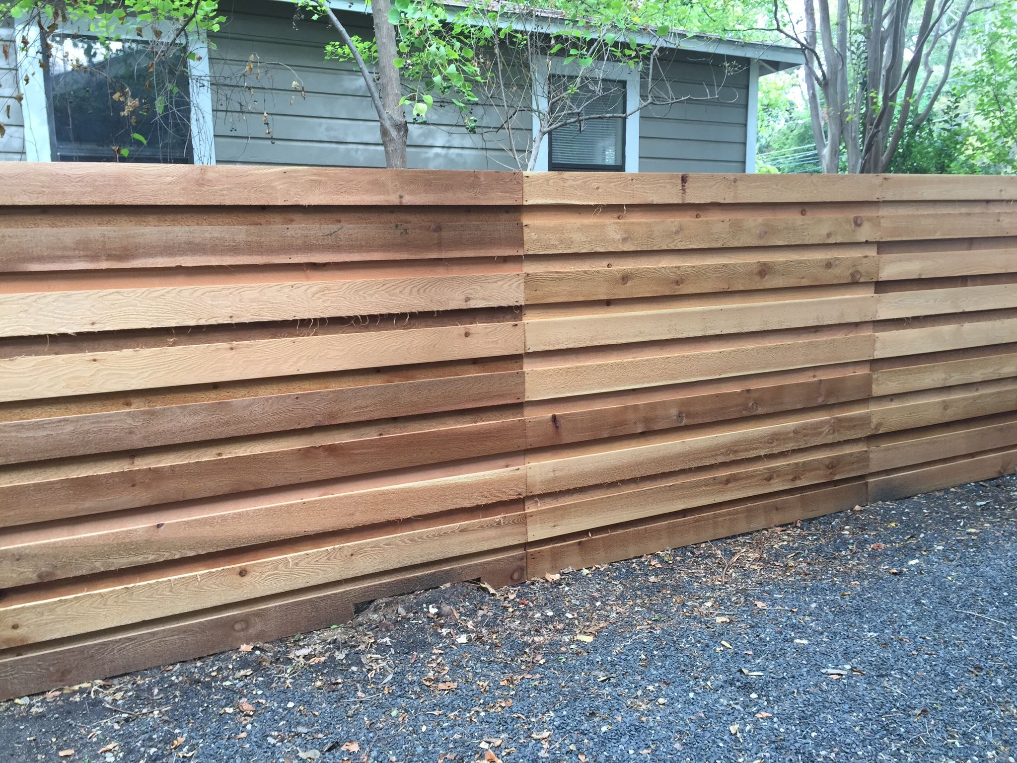 Horizontal Fence Backyard Fences Fence Design Living Fence