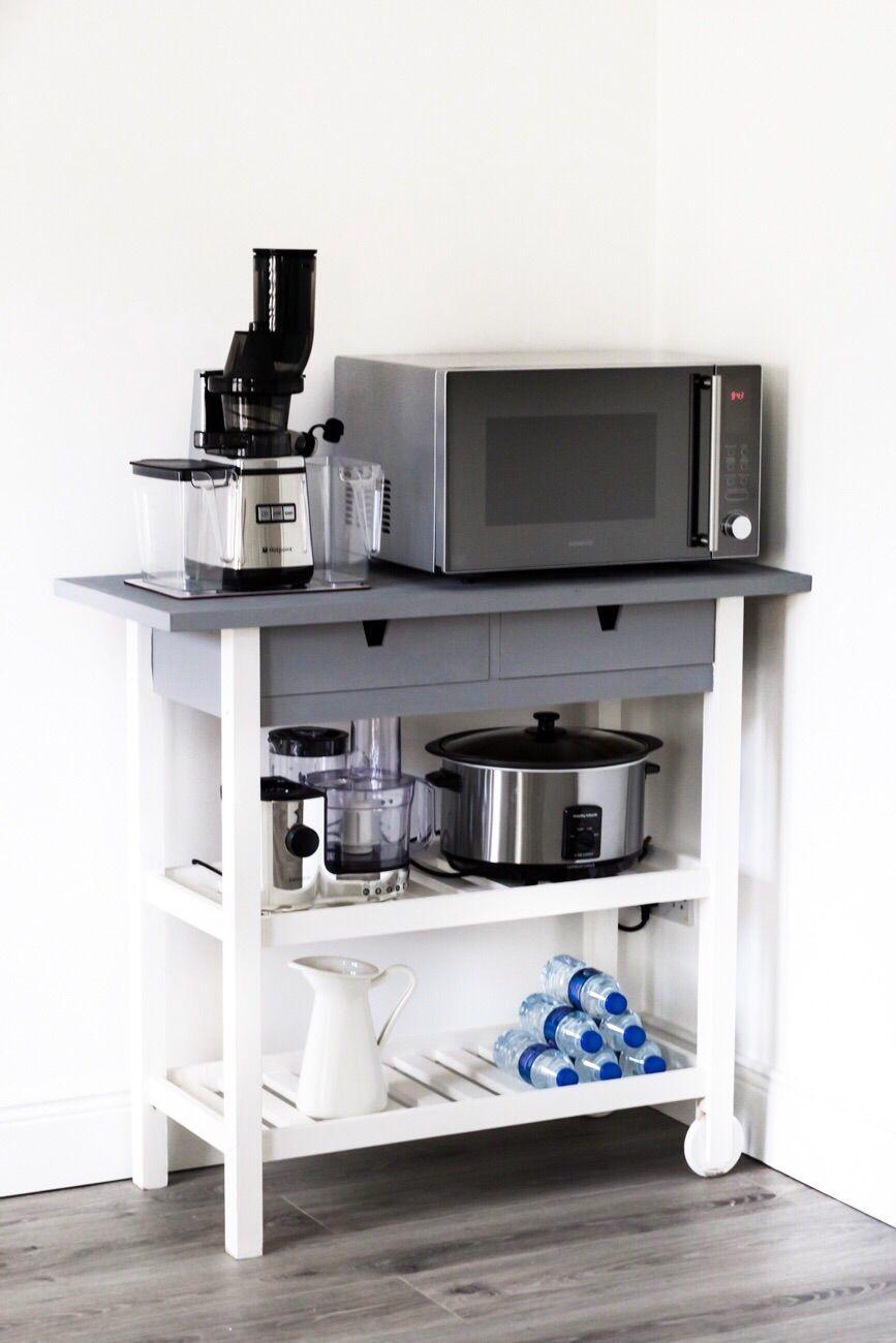 ikea forhoja kitchen cart hack diy
