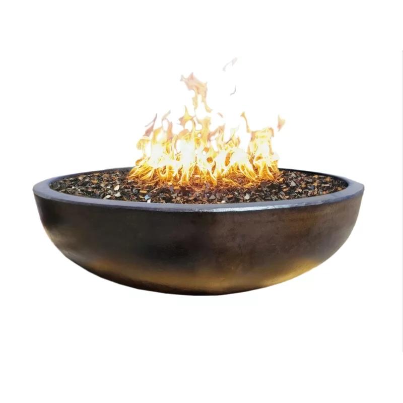 Winklevoss Concrete Natural Gas Fire Pit Natural Gas Fire Pit Fire Pit Essentials Gas Firepit