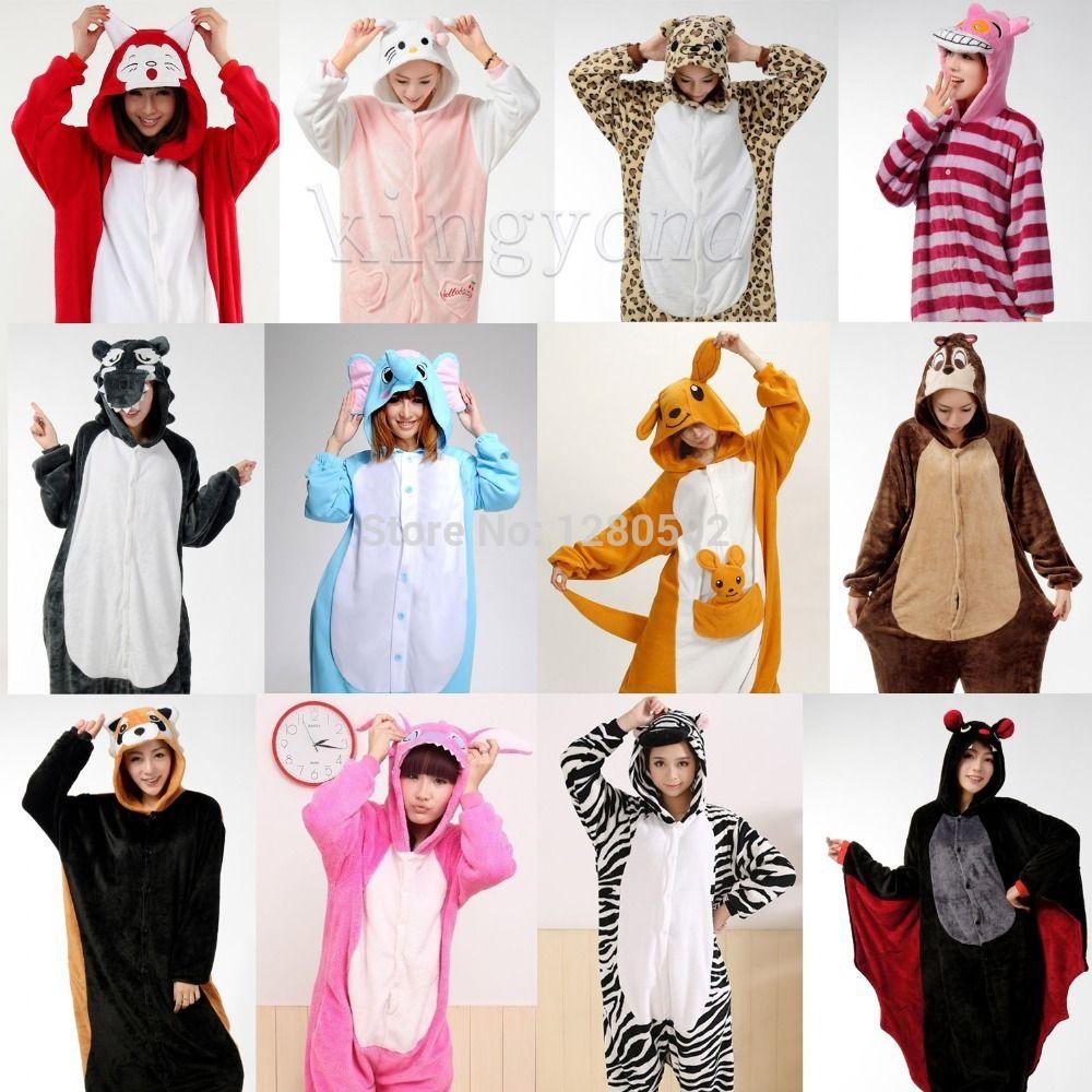 b56f69ae6c Cheap Invierno pijamas unisex adulto de Cosplay Animal Onesie ropa de noche  de la puntada de