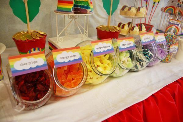 rainbow themed 1st birthday party rainbow party pinterest