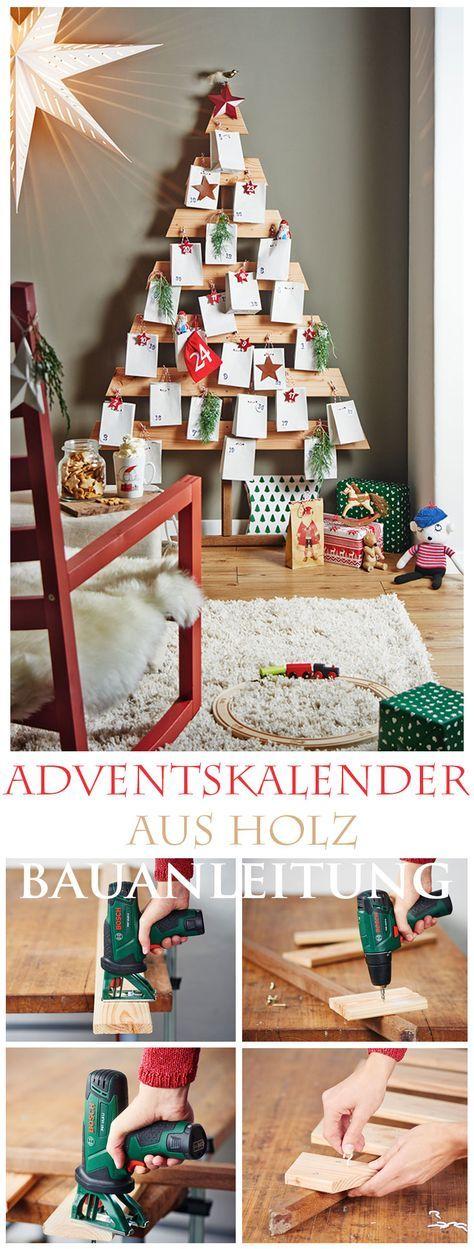 adventskalender aus holz weihnachten pinterest. Black Bedroom Furniture Sets. Home Design Ideas