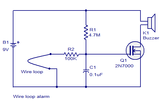 How To Make A Wire Loop Game Circuit Electronics Circuit Circuit Electrical Projects