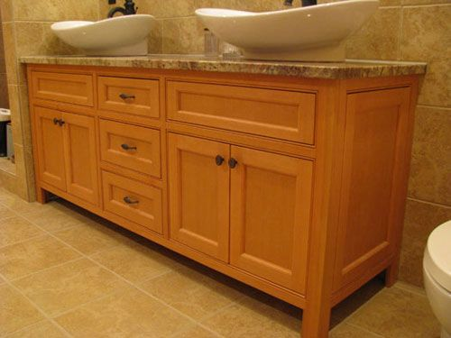 vertical grain douglas fir cabinets with beaded inset frame