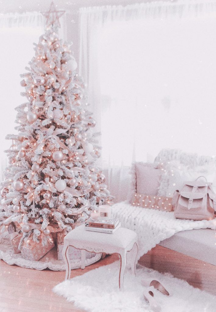 Couture Rose Gold & Blush Christmas Tree Decoratio