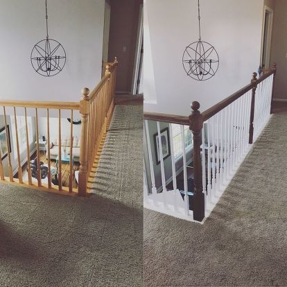 Banister Makeover With No Sanding or Stripping | Banisters ...