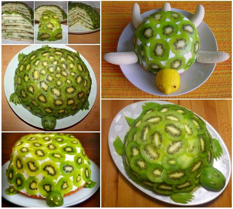 Swedish Sandwich Cake Recipe Fruit cakes Kiwi and Turtle