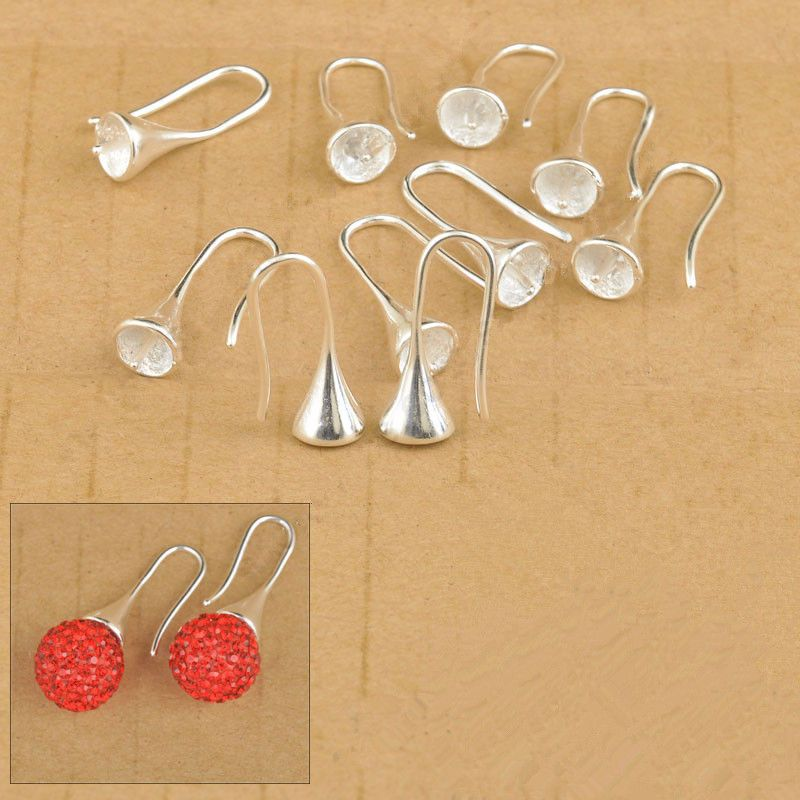 10PCS Making Jewelry Accessories Findings Hook Earring Pinch Smooth Earwire