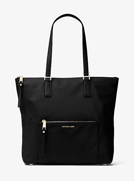 7f3f5b21f8ce Michael Kors Ariana Large Nylon And Leather Tote | Products | Nylon ...