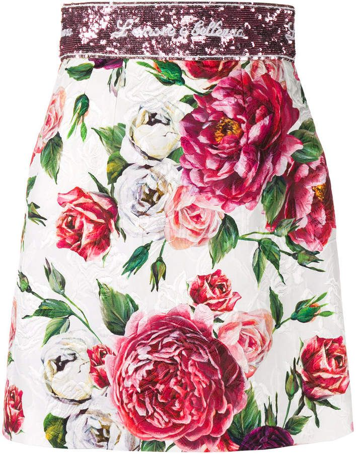 dd40a0da8e Dolce and Gabbana | Women's Clothing | Mini skirts, Skirts, Peony print