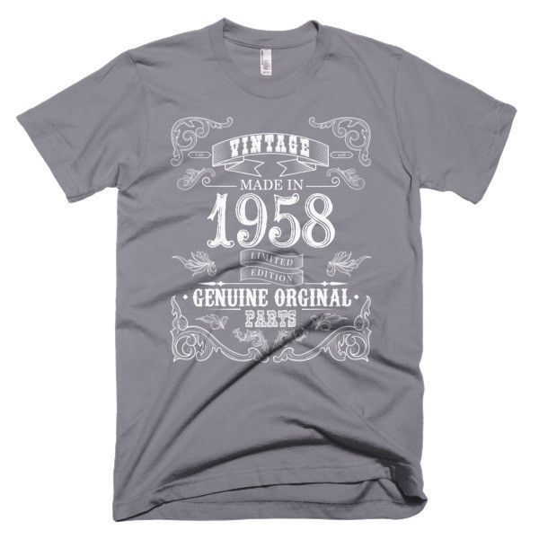 Made in 1958 Aged to perfection Short sleeve men's t-shirt
