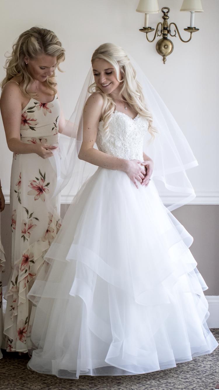 Mori lee wedding dress with horsehair layers ruffles weddings