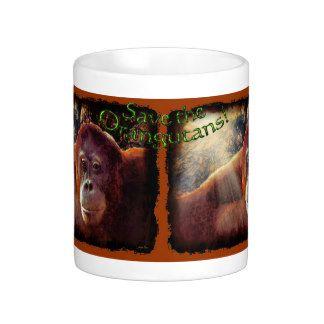 Orangutan & Rainforest Sunlight Wildlife Art Mug by Skye Ryan-Evans