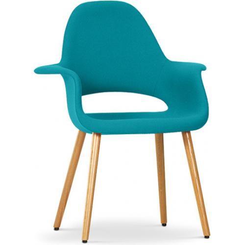 Chaise design scandinave Organic -Style Eero Saarinen - Tissu pas
