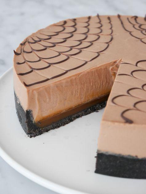 chokladbotten med hallonmousse