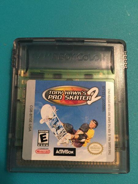 Nintendo Game Boy Pro Skater 2 Game Pro Skaters Gameboy